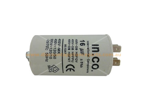 UNIVERSAL WASHING MACHINE DYRER MOTOR RUN CAPACITOR 16UF PART # CA016