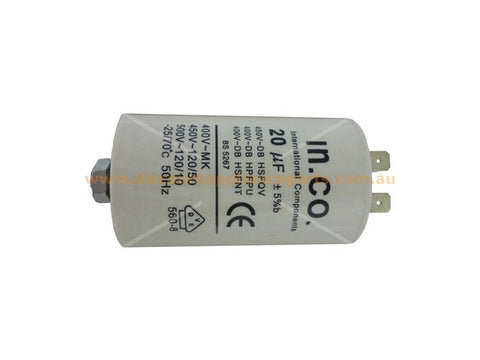 UNIVERSAL WASHING MACHINE DRYER MOTOR RUN CAPACITOR 20UF PART # CA020