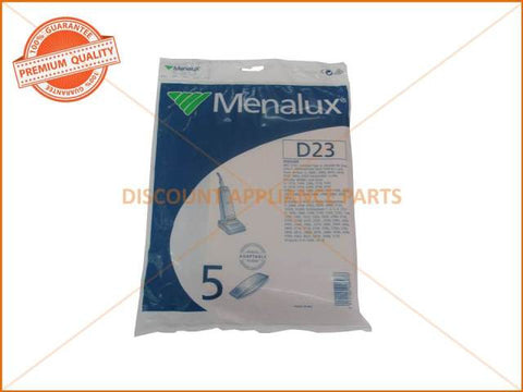 MENALUX VACUUM BAGS SUITS: HOOVER (PACK OF 5) PART # D23