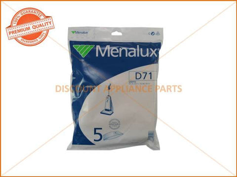 MENALUX VACUUM BAG SUITS: SANYO (PACK OF 5) PART # D71