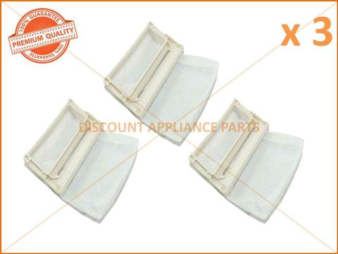 3 x SAMSUNG WASHING MACHINE LINT FILTER PART # DC91-10404U
