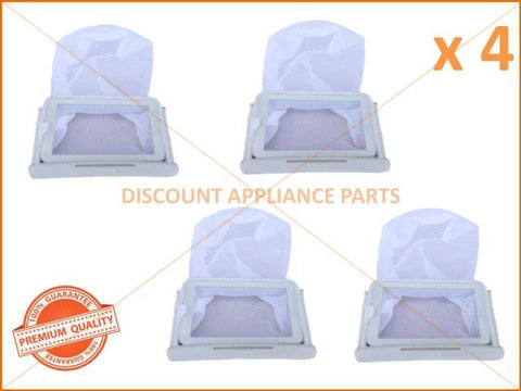 4 x SAMSUNG WASHING MACHINE LINT FILTER ASSEMBLY PART # DC91-11376F