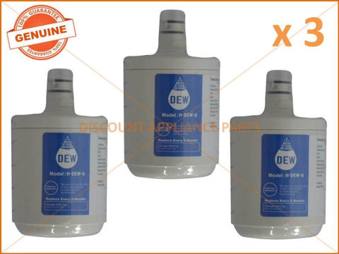 3 x LG REFRIGERATOR QUALITY REPLACEMENT 5231JA2002A WATER FILTER