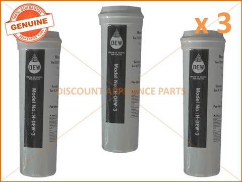 3 x FISHER & PAYKEL REFRIGERATOR QUALITY REPLACEMENT WATER FILTER 836860 836848
