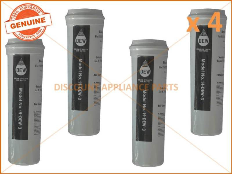 4x Fisher Paykel 836848 Refrigerator Water Filter