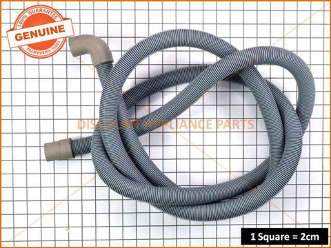 UNIVERSAL WASHING MACHINE HOSE DRAIN 2.5M 1 X 90 DEG ELBOW PART # HC048