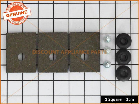 KLEENMAID WASHING MACHINE BRAKE PAD KIT PART # KS548P3