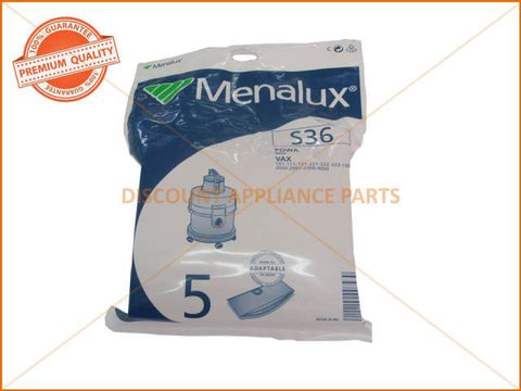 MENALUX VACUUM BAG SUITS: POWA AND VAX (PACK OF 4) PART # S36 6885P