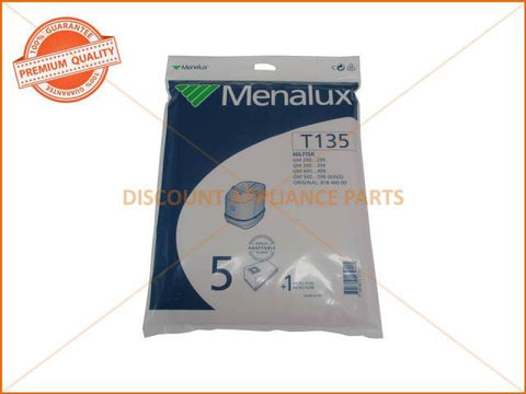 MENALUX VACUUM BAG SUITS: NILFISK (PACK OF 5) PART # T135 NO LONGER AVAILABLE