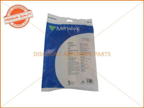 MENALUX VACUUM BAG SUITS: BOMANN, FAR, HOLLAND ELECTRO & HOOVER (PACK OF 5) PART # T172