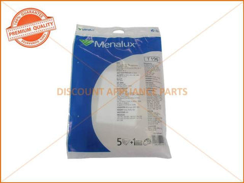 MENALUX VACUUM BAG SUITS: VOLTA, TORNADO & PROGRESS (PACK OF 5) PART # T196