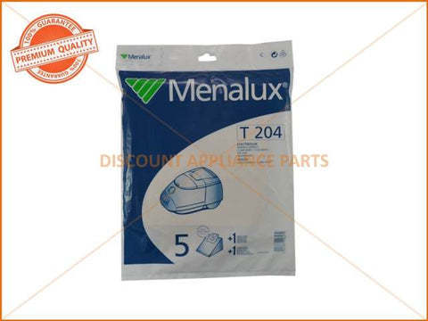 MENALUX VACUUM BAG SUITS: ELECTROLUX & VOLTA (PACK OF 5) PART # T204