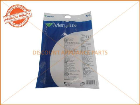 MENALUX VACUUM BAGS SUITS: HOOVER, DELONGHI AND SAMSUNG ( PACK OF 5 )  PART # T35B