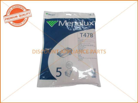 MENALUX VACUUM BAG SUITS: ELECTROLUX & VOLTA (PACK OF 5) PART # T47B NOW USE 1204P