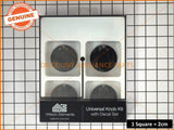 UNIVERSAL KNOB 48MM BLACK KIT & DECALS PART # UK-48B4