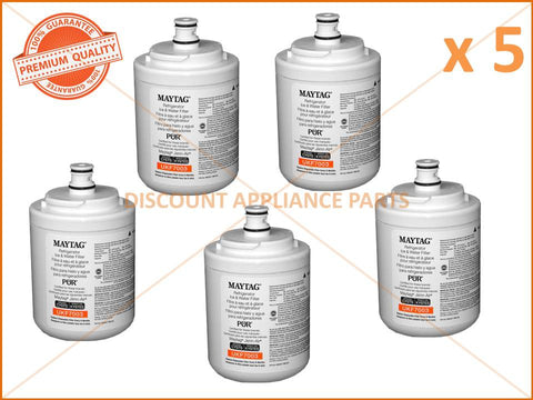 5 x MAYTAG WHIRLPOOL REFRIGERATOR WATER FILTER PART # UKF7003AXX