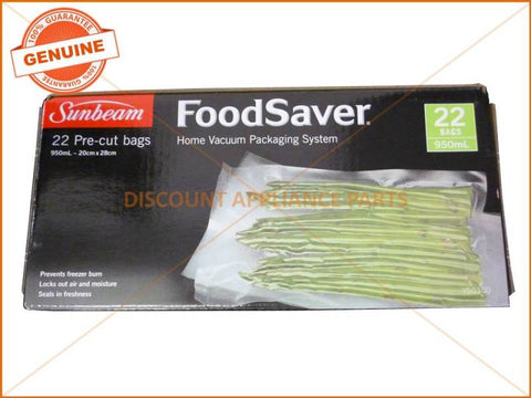 SUNBEAM FOODSAVER PRE-CUT 950ml BAGS ( PACK OF 22 ) PART # VS0300