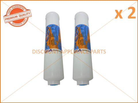 2 x ELECTROLUX REFRIGERATOR FILTER IN LINE 1/4' 10' 2' DIA PART # WF001