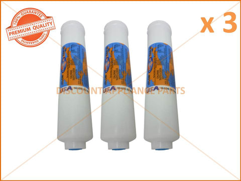 3 x ELECTROLUX REFRIGERATOR FILTER IN LINE 1/4' 10' 2' DIA PART # WF001