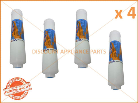 4 x ELECTROLUX REFRIGERATOR FILTER IN LINE 1/4' 10' 2' DIA PART # WF001