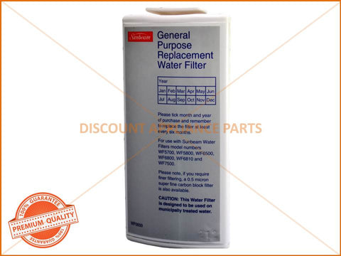 SUNBEAM GENERAL PURPOSE WATER FILTER PART # WF0500 WF0700