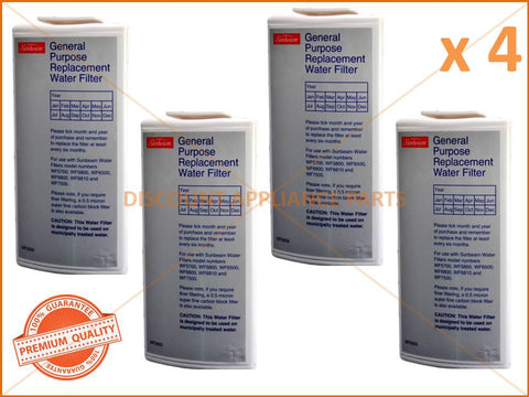 4 x SUNBEAM GENERAL PURPOSE WATER FILTER PART # WF0500 WF0700