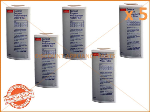 5 x SUNBEAM GENERAL PURPOSE WATER FILTER PART # WF0500 WF0700