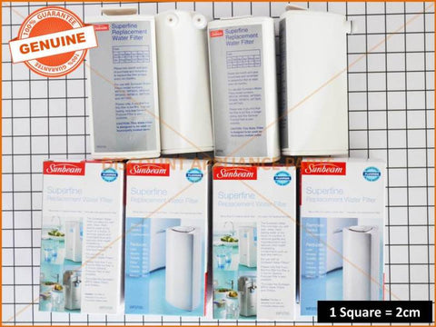 4 x SUNBEAM WATER FILTER PART # WF0700
