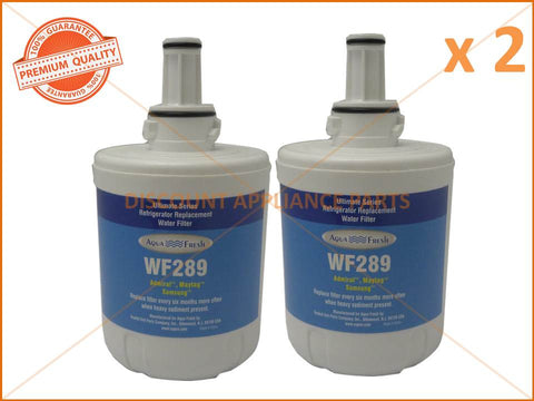 2 x SAMSUNG REFRIGERATOR REPLACEMENT WATER FILTER PART # WF289