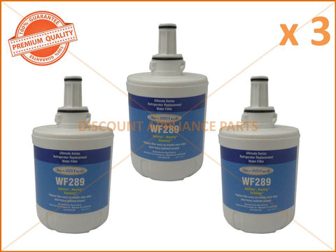 3 x SAMSUNG REFRIGERATOR REPLACEMENT WATER FILTER PART # WF289