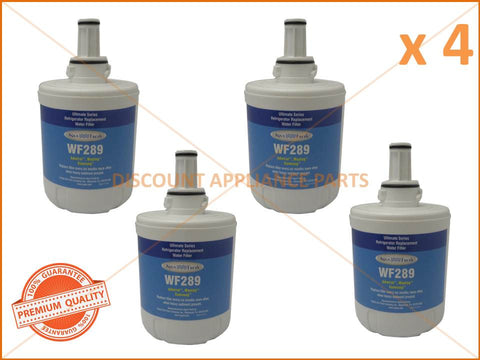 4 x SAMSUNG REFRIGERATOR REPLACEMENT WATER FILTER PART # WF289