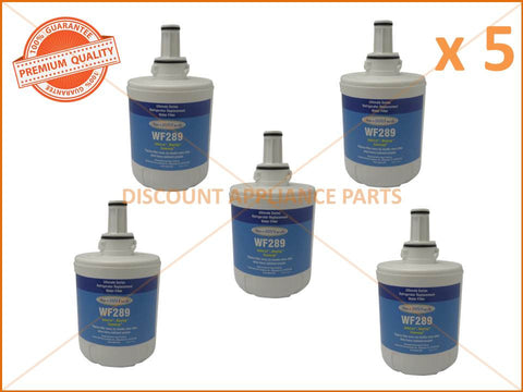 5 x SAMSUNG REFRIGERATOR REPLACEMENT WATER FILTER PART # WF289