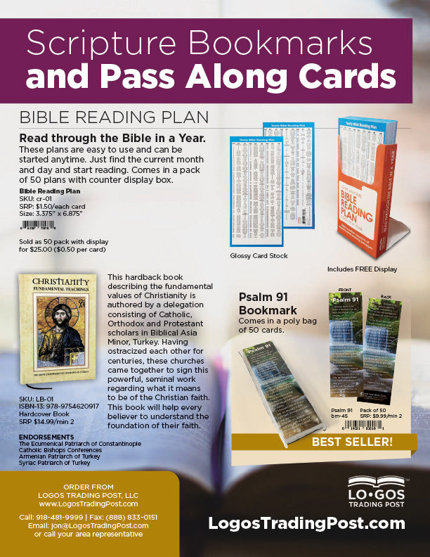 Logos Trading Post Bookmarks and Pass Along Cards Catalog 2021 PDF