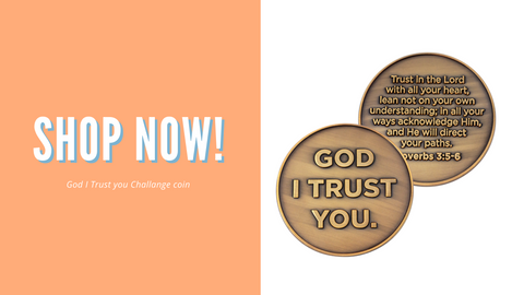 "Shop ""God I trust you"" Challenge Coin"