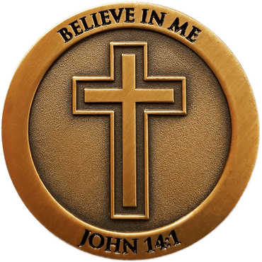 Antique Gold Plated Christian Challenge Coin, Don't Be Anxious,