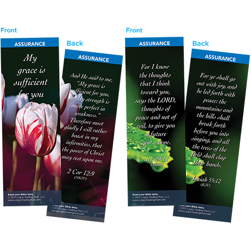 Bible Verse Bookmarks Variety Pack of 60 - Assortment 2