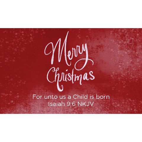 Christmas, Pass Along Scripture Cards, Merry Christmas, Isaiah 9:6, Pack of 25
