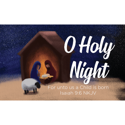 Christmas, Pass Along Scripture Cards, O Holy Night, Isaiah 9:6, Pack of 25