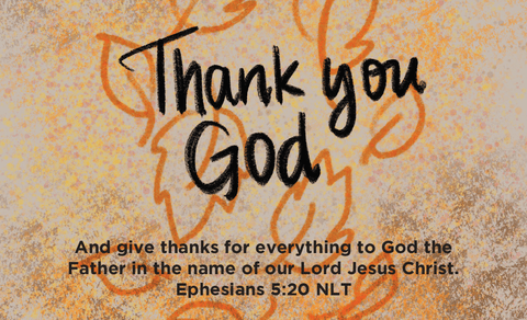 Thanksgiving, Pass Along Scripture Cards, Thank You God, Ephesians 5:20, Pack of 25 - Logos Trading Post, Christian Gift
