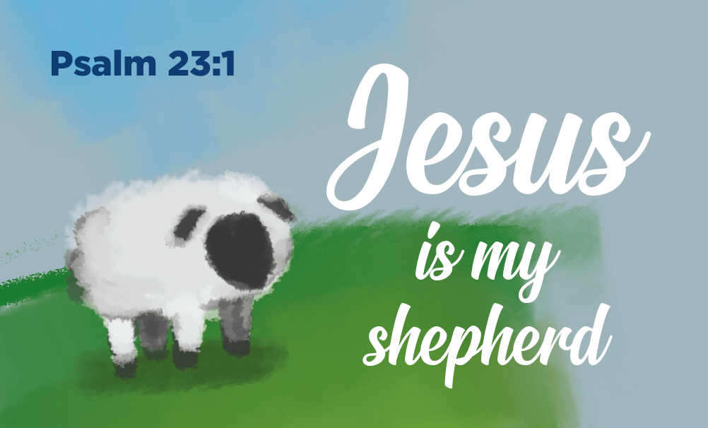 Children and Youth, Pass Along Scripture Cards, Jesus is my Shepherd, Psalm 23:1 Pack of 25 - Logos Trading Post, Christian Gift
