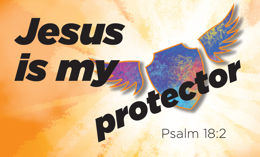 Children and Youth, Pass Along Scripture Cards, Jesus is my Protector, Psalm 18:2, Pack of 25 - Logos Trading Post, Christian Gift