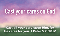 Children and Youth, Pass Along Scripture Cards, Cast Your Cares on God, 1 Peter 5:7, Pack of 25 - Logos Trading Post, Christian Gift