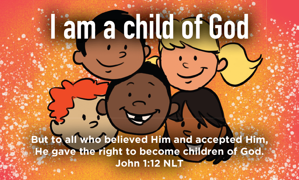 Children and Youth, Pass Along Scripture Cards, I am a Child of God, John 1:12, Pack of 25 - Logos Trading Post, Christian Gift