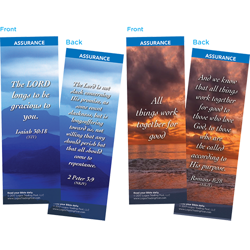 Bible Verse Bookmarks Variety Pack of 60 - Assortment 7