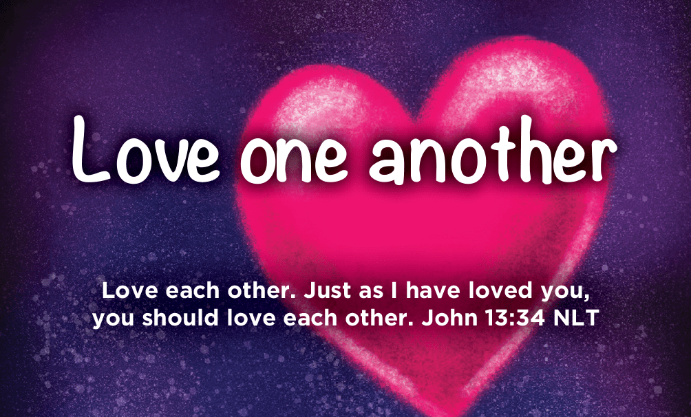 Children and Youth, Pass Along Scripture Cards, Love One Another, John 13:34, Pack of 25 - Logos Trading Post, Christian Gift