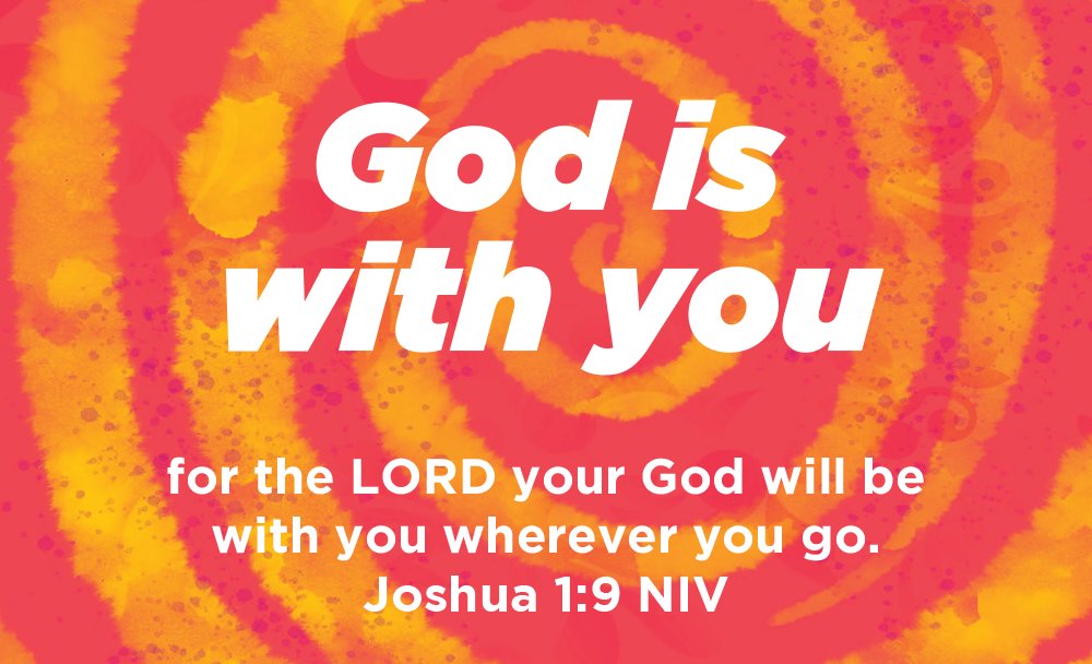 Children and Youth, Pass Along Scripture Cards, God is With You, Joshua 1:9, Pack of 25 - Logos Trading Post, Christian Gift