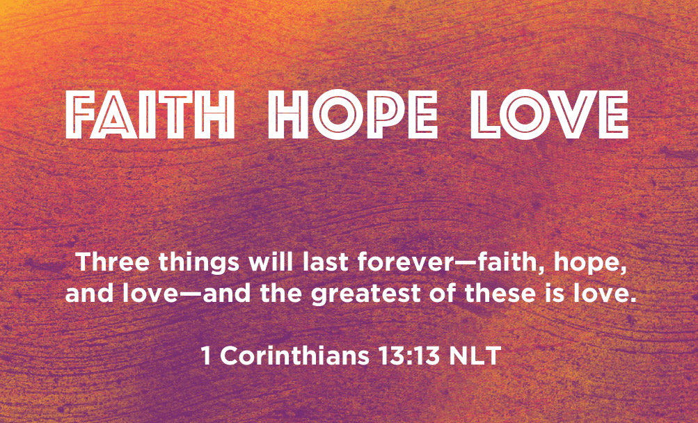 Children and Youth, Pass Along Scripture Cards, Faith Hope Love, 1 Corinthians 13:13, Pack of 25 - Logos Trading Post, Christian Gift