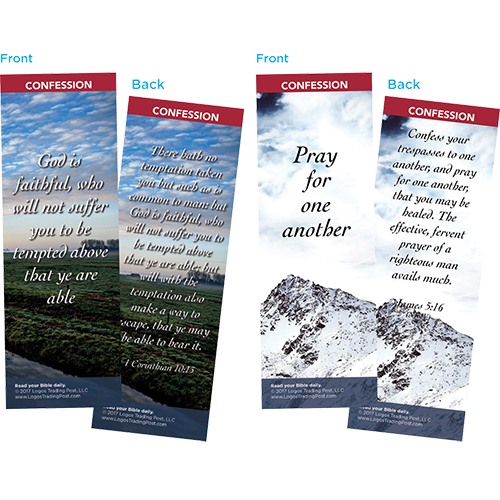 Bible Verse Bookmarks Variety Pack of 60 - Assortment 9