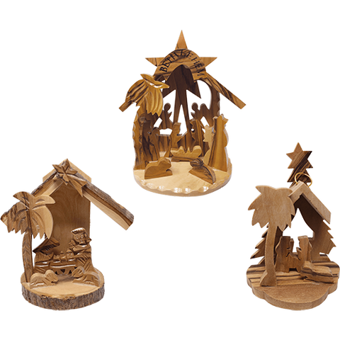 Holy Land 3D Nativity Scene Grotto Ornament - Value Pack of all 3