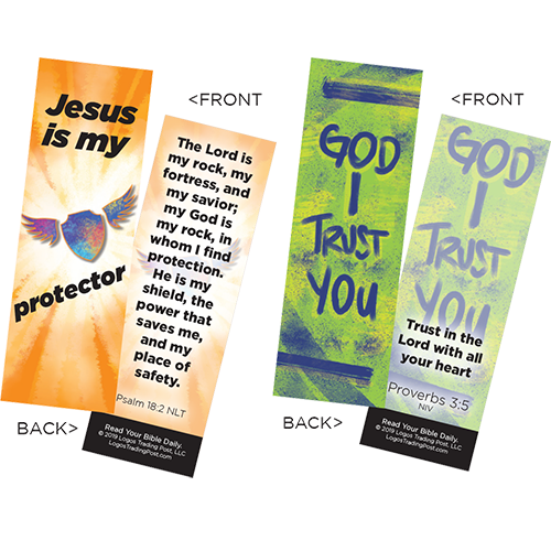 Children's Memory Verse Bookmarks, Variety Pack of 60 - Assortment 2